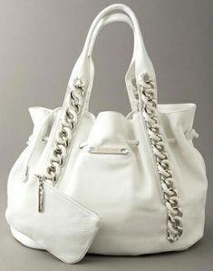 92dfad82c71b Michael Kors White Leather Bag - we love the look - stylish and elegant.