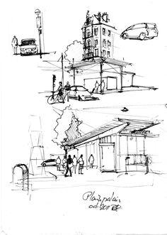 sketches   Reynald Aubert Human Figure Sketches, Figure Sketching, Urban Concept, Concept Art, Pen Sketch, Drawing Sketches, Drawings, Notebook Sketches, Flash Photography