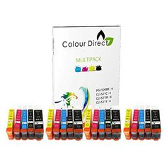 From 7.99 20 Colour Direct Compatible Ink Cartridges Replacement For Canon Pgi-520 Cli-521 - Canon Pixma Ip3600 Ip4600 Ip4700 Mp540 Mp550 Mp560 Mp620 Mp630 Mp640 Mp980 Mp990 Mx860 Mx870 Printers