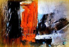 'Abstrakt Orange' von Claudia Neubauer bei artflakes.com als Poster oder Kunstdruck $15.68