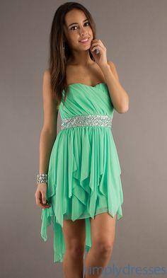Tween dresses strapless long | Strapless High Low Dress