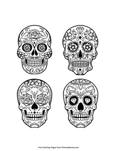 Sugar Skull Coloring Pages Adult Coloring Pages Sugar Skull