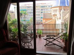 Terrace in the Carmen in Valencia. So where are you buying in Spain, the city or the countryside?