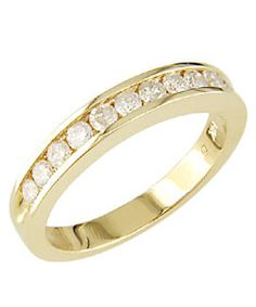 Miadora 14k Yellow Gold 1/2ct TDW Diamond Eternity Band (I-J, I2-I3)