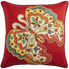 Beaded Butterfly Pillow * Perfect for my living room couches <3