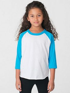 American Apparel - Kids Poly-Cotton 3/4 Sleeve Raglan