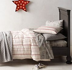 Vintage Baseball Stripe Bedding Collection | Vintage Baseball Stripe Bedding Collection | Restoration Hardware Baby & Child