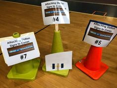 """Have you been searching for the best way to label your stations in PE class? """"What is the best method for attaching signs to cones?"""" I recently proposed that very quest… Elementary Physical Education, Elementary Pe, Health And Physical Education, Pe Equipment, School Equipment, Pe Lessons, Swim Lessons, Adapted Pe, Pe Activities"""