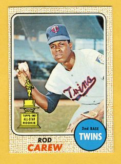 Rod Carew Rookie Card Topps
