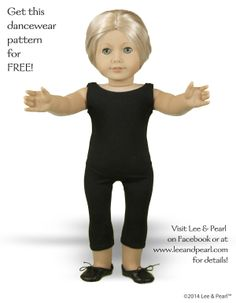 "In honor of American Girl GOTY Isabelle, Lee & Pearl Pattern #1051: Ballet Basics Leotard and Unitard for 18"" Dolls is available ONLY as a FREE GIFT to anyone who visits our website at http://www.leeandpearl.com and signs up for our mailing list.  These basic pieces feature wide scoop-neck fronts and dancer's low backs. The leotard also features elasticized leg openings. Like all our patterns, #1051 goes together quickly and easily with computer-drafted pieces and photo-illustrated…"
