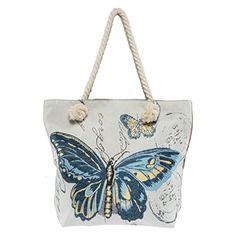 #Colleer #Damen #Leinwand #Strandtasche #Schmetterling #Handtasche #Innenfutter…