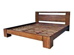 Resultado de imagem para cama de madeira rustica