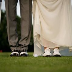 Golf groom and golf bride. Tips for playing golf with your significant other. #golf #wedding #couple