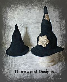 Witch Hat - Free Crochet Pdf Pattern by Nan Sovde / Thornwoodcrochet wordpress. In sizes: Infant, Baby-Toddler, Child, and Adult. https://thornwoodcrochet.wordpress.com/2015/09/06/infant-baby-toddler-child-and-adult-witch-hat-crochet-pattern-pdf/