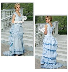 Stunning Butterick Victorian top and skirt. Could be a great base for a Cinderella pattern!