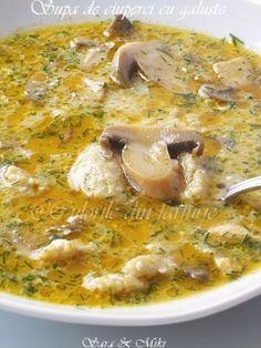 Supa de ciuperci cu galuste ~ Culorile din farfurie