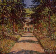 Claude Monet The Main Path At Giverny oil painting reproductions for sale