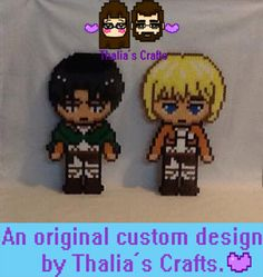 Attack On Titan: Chibi Characters by ThaliasCrafts on Etsy