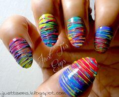 """Spun Sugar Technique"" | fuck yeah nail art!       Check out this Tumblr-Some Pretty awesome nail art."