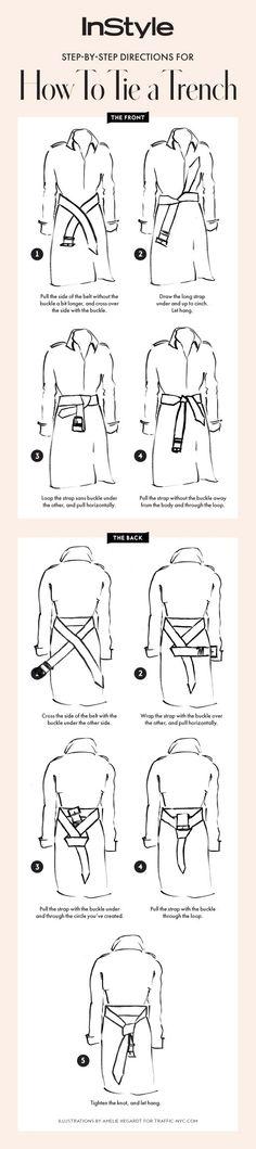 Du kannst deinen Trenchcoat entweder mit einem Knoten vorne tragen - oder ihn dir hinten binden. Hier siehst du, wie den perfekten Trenchcoat Knoten machst! Spring Style / Frühlingsmode / Frühling Jacken Frauen | Stylefeed