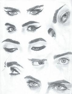 Cara Delevingne Eye Study
