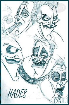 Hades Sketches by ~HArt1