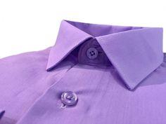 Купить Мужская рубашка сиреневого цвета однотонная в интернет магазине мужской одежды OTOKODESIGN