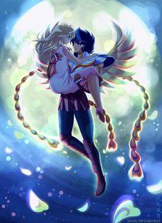 Ikki e Esmeralda (descrição feita por Gabriel Barboza)