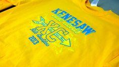 Kenesaw High School - Blue Devils - Cross Country State Qualifiers 2013 - gold - t-shirt - tee shirt - design - screen print - screenprint - Kearney, NE - Shirt Shack