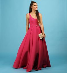 Camille- Pink Scuba Formal Dress