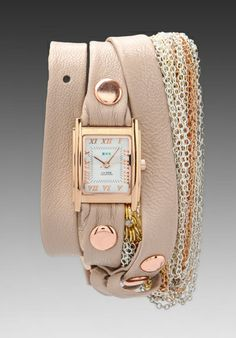 AH GIMME. La Mer Multi Chain Wrap in Nude/Rainbow