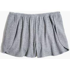 MADEWELL Waffle Knit Pajama Shorts ($24) ❤ liked on Polyvore featuring intimates, sleepwear, pajamas, madewell, waffle pajamas and waffle knit pajamas