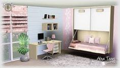 Alta Teen Bedroom Set by Simcredible Designs 3 Kids Bedroom, Teen Bedroom Sets, Bedroom Ideas, The Sims, Sims Cc, Sims 4 Cc Furniture, Home Furniture, Sims 3 Rooms, Sims 3 Cc Finds