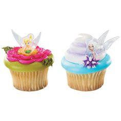 Disney Fairies Tinker Bell and Periwinkle Cupcake Rings