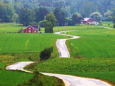 Berghem, Sweden Follow the Road by Peter Nyhlén, via Flickr