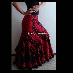 Flamenco Dance Skirt : Ruth swirls
