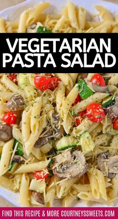 French Delicacies Essentials - Some Uncomplicated Strategies For Newbies This Vegetarian Pasta Recipe Is Filled With Veggies Can Easily Be Made Into A Vegan Pasta By Leaving Out The Parmesan Cheese. Best Lunch Recipes, Best Italian Recipes, Lebanese Recipes, Healthy Diet Recipes, Veggie Recipes, Healthy Dinners, Amazing Recipes, Keto Recipes, Vegetarian Recipes