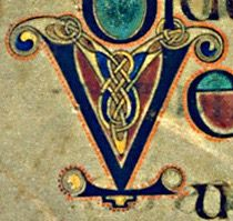 Book of Kells - initial letter A and letter V | Illuminated ...