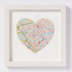 In love with the idea of custom map artwork for Valentine's Day - the place you met perhaps?