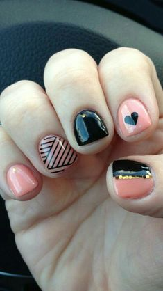 50 + Gel Nail Polish Designs 2018 - style you 7 Nail Art Designs, Gel Manicure Designs, Gel Manicure Nails, Get Nails, Nail Polish Designs, Love Nails, Gel Nail Polish, Pretty Nails, Cnd Shellac