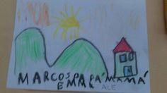 Casas Rurales Pradina vistas desde la mirada de un nño. Agosto 2013. Nos enternece el dibujo de Marcos y le damos las gracias de corazón por este maravilloso regalo...Un besin