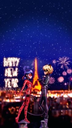 Happy new year Hope this year is a wonder full one to all Ladybug And Cat Noir, Meraculous Ladybug, Ladybug Comics, Ladybug Anime, Miraculous Ladybug Wallpaper, Miraculous Ladybug Fan Art, Lady Bug, Mlb Wallpaper, Adrien Y Marinette