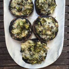 designer bags and dirty diapers: Broccoli and Gouda Stuffed Portobello Mushrooms