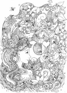 Doodle Coloring pages colouring adult detailed advanced printable Kleuren voor volwassenen coloriage pour adulte anti-stress kleurplaat voor volwassenen Line Art Black and White http://hannahchapman.deviantart.com/art/The-Pheonix-476264125: