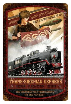 Trans-Siberian Express Metal Sign