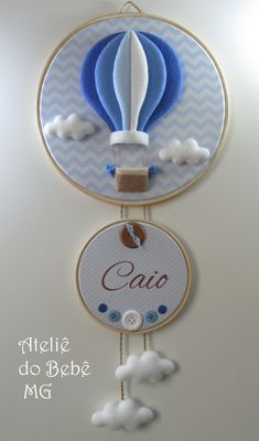 Make your order CONTACT: Embroidery Hoop Crafts, Hand Embroidery Art, Diy Arts And Crafts, Felt Crafts, Crochet Baby Mobiles, Balloon Crafts, Baby Sewing Projects, Felt Baby, Felt Decorations