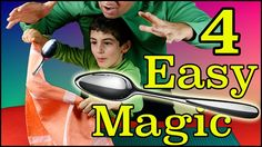 How To Magic 4 Easy Magic Trics Spoon Zombie Ball Easy Magic, Magic Tricks, Spoon, Youtube, Magick, Spoons, Youtubers, Youtube Movies
