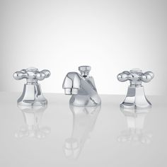New York Widespread Bathroom Faucet - Cross Handles