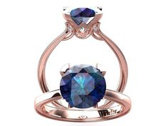 Victorian inspired 14k Rose gold Engagement Ring Solitare Ring 2.00 ct VVS Alexandrite  SW1A14R