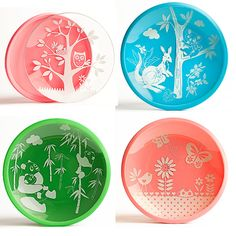 brinware tempered glass and silicone lined dishes for kids